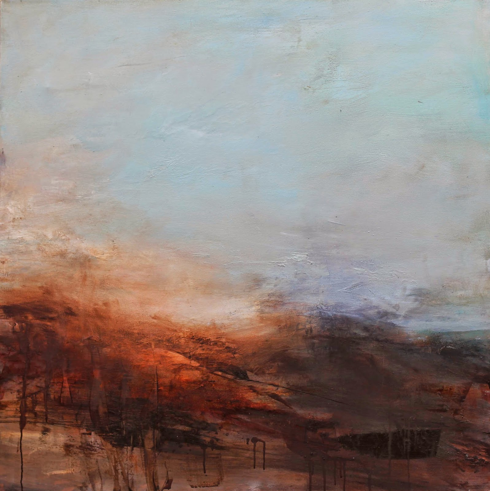 large semi abstract oil painting