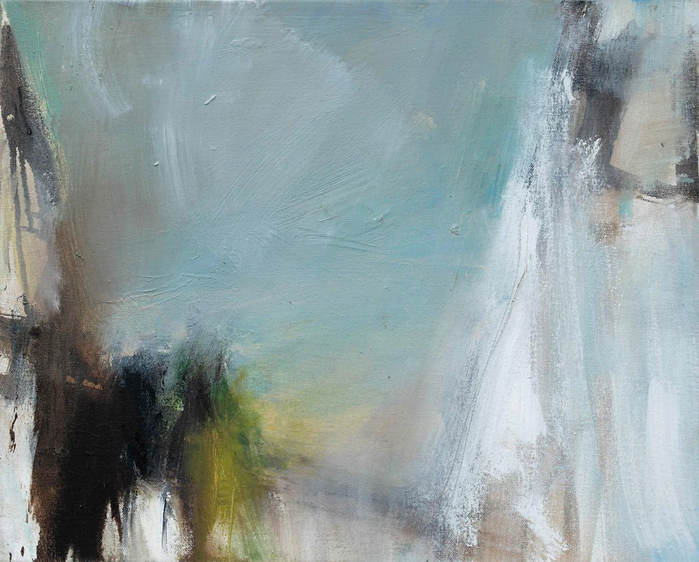 semi abstract oil painting